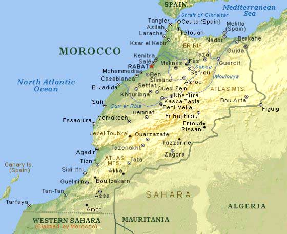 MarokkoKarte