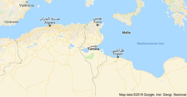 TunisLandkarte